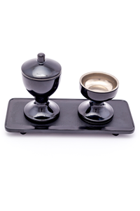 CUP SET WITH STAND PLASTIC BLACK 069
