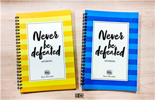 Never Be defeated notebook( set of 2)