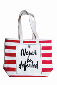 Never be defeated Tote bag