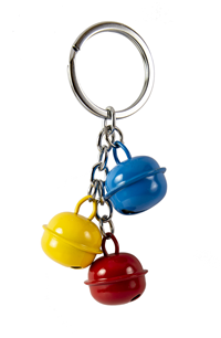 EG TRI COLOUR BELL KEY CHAIN