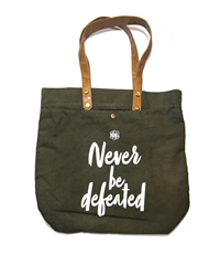 NEVER BE DEFEATED EG CLOTH BAG -GREEN
