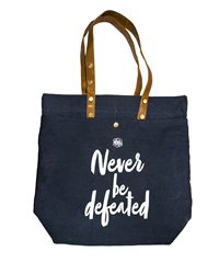 NEVER BE DEFEATED EG CLOTH BAG -BLUE