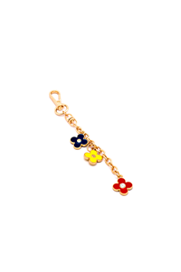 KEY RING TRICOLOR FLOWER
