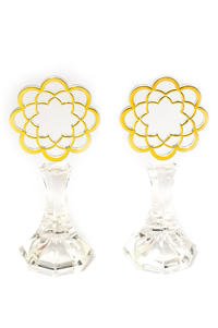 EIGHT PETALS LOTUS STAND - ABS ACRYLIC SIZE 2.3