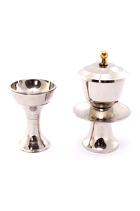 WATER/RICE HOLDER SET - BRASS